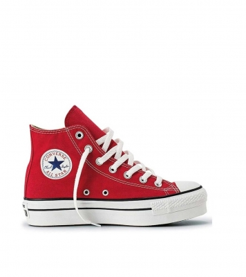 CHUCK TAYLOR ALL STAR PLATAFORM HI RED