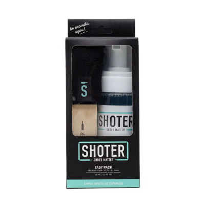 Limpia Zapatillas Shoter Easy Pack-kit(espuma+cepillo+paño )