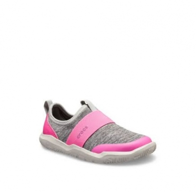 CROCS  KIDS SWIFTWATER EASY GRIS CLARO/ROSA